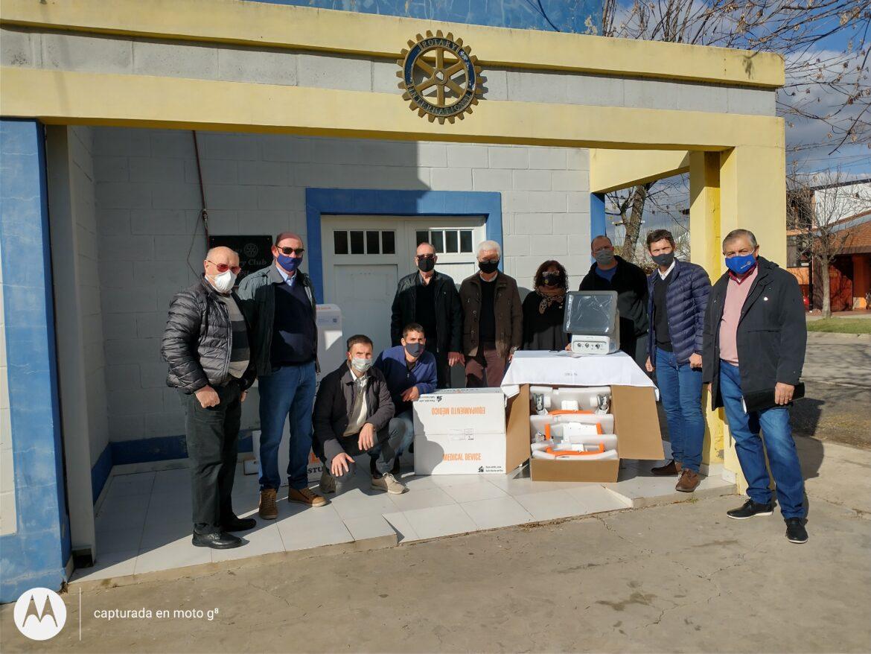 Rotary Club Pilar, formalizó la entrega de dos respiradores al Samco Pilar.
