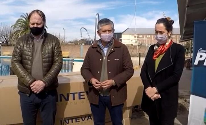 Erica Gonnet, Ministra de Medio Ambiente de Santa Fe, visito Pilar.